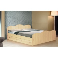 Кровать двуспальная с ящиками